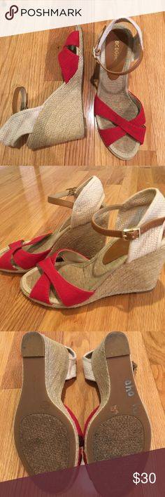 BCBG Wedge Sandals BCBGeneration platform wedge sandals. Only worn once in great quality! BCBGeneration Shoes Wedges