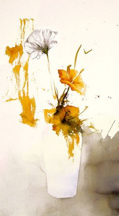 Lars Eje Larsson - Nippon Flower - 56 x 35 cm - watercolor