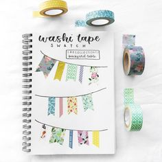 Washi tape has become one of the most popular bullet journal supplies. The fact that there are so many different looking washi tapes to collect, and that they have other uses outside of bullet journaling, . Bullet Journal Washi Tape, Bullet Journal 2020, Bullet Journal Ideas Pages, Bullet Journal Spread, Bullet Journal Layout, Bullet Journal Inspiration, Bullet Journals, Bujo, Wash Tape