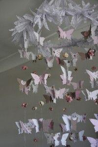 DIY Butterfly & Roses Chandelier.