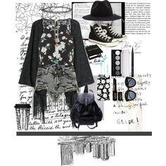 Back to the Grunge side. by vicococeres on Polyvore featuring Topshop, MANGO, Boohoo, Converse, Givenchy, Miss Selfridge, Azalea, Bobbi Brown Cosmetics, NYX and Dot & Bo