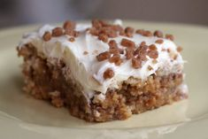 """white trash bars... only 4 ingredients!: ritz crackers, toffee chips, sweetened condensed milk, vanilla frosting.VERY tasty, but be careful not to overbake the bottom layer...I did and it was a little """"tough"""". Def stick to amount of time the recipe says!"""
