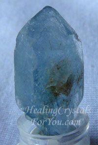Blue Tourmaline In Quartz aka Indicolite Quartz, helps you to develop channeling & psychic mediumship
