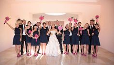 Umm can this be exactly what my wedding looks like? I love navy and pink!