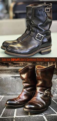 Fashionable men's boots,high-quality leather layer+heightened design,give you a perfect experience, buy 50% off today's activities Men's Boots, Shoe Boots, Casual Mode, Engineer Boots, Mens Boots Fashion, Retro Men, Mens Attire, Men S Shoes, Leather Shoes