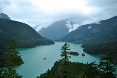 Diablo Lake in the North Cascade mountains of northern Washington state, USA