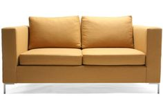 Organic, eco friendly sustainable green sofa loveseat without flame retardants, baby safe. Square. EcoBalanza company