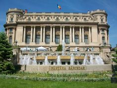 """Bucharest - """"Cercul militar national"""" Bucharest, Beautiful Architecture, Romania, Countries, Mansions, House Styles, Heart, Places, Modern"""