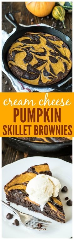 Ever Pumpkin Brownies. Pumpkin cheesecake swirled with a fudgy brownie to make the best ever pumpkin dessert recipe! Fall Desserts, Just Desserts, Delicious Desserts, Dessert Recipes, Yummy Food, Dessert Bars, Pumpkin Brownies, Pumpkin Cheesecake, Homemade Brownies