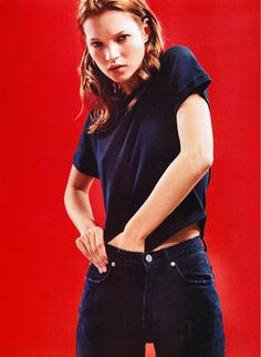 eytys: Kate Moss for CK Jeans in 1997. Photograph by Mario Sorrenti.