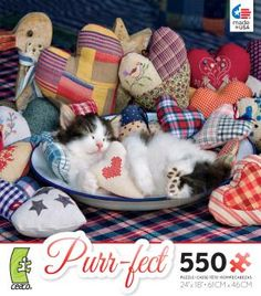 Purrfect Patchwork Hearts