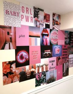 Collage Mural, Bedroom Wall Collage, Photo Wall Collage, Picture Wall, Picture Collages, Collage Pictures, Hanging Pictures, Cute Room Ideas, Cute Room Decor
