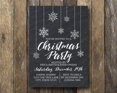 Printable Christmas Invitation Holiday Party by TheLionAndTheLark