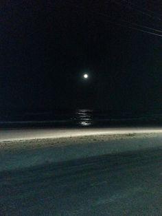 소돌 밤 바다와 보름달