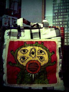 Hand painted tote bag. Available at dia.lo.gue Artspace's shop, Kemang, Jakarta.