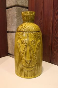 Mid Century Ceramic Lion Jar by athomemodern on Etsy, $285.00