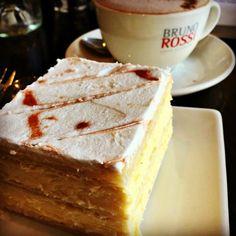 Zeps Cafe: Vanilla Slice ~ article and photo for think-tasmania.com ~ #Tasmania #foodie #VanillaSlice #ZepsCafe #Desserts