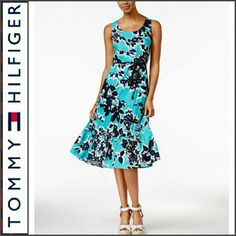 New Tommy Hilfiger Floral Midi Dress M