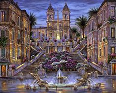 "Robert Finale - ""The Spanish Steps, Rome"""