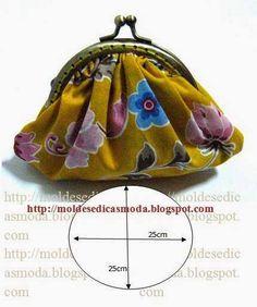 BOM DIA, PORTA-MOEDAS COM MEDIDAS PARA CORTAR... http://moldesedicasmoda.blogspot.pt/ http://modaedicasdecostura.blogspot.pt/