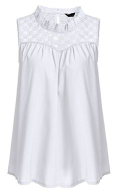 JQstar Women's Casual Summer Sleeveless Chiffon Blouse Loose Vest Shirt Tank Tops (M, White)  Special Offer: $16.29  366 Reviews Size Chart: S –Shoulder: 12.4 inch –Chest: 38.6 inch — Length: 23.4 inch M –Shoulder: 12.9 inch –Chest: 40.6 inch...