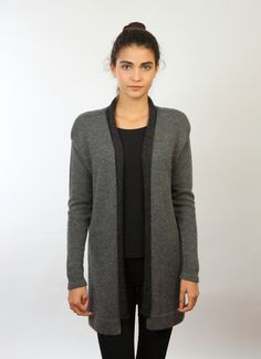 Knitted jacket, Grey cardigan, Baby alpaca cardigan, Grey sweater, Loose fit cardigan, Knitted baby alpaca jacket, Knitted coat von AistePHaase auf Etsy