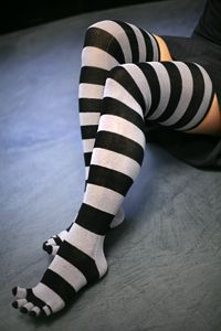 stripey toe socks!! $15