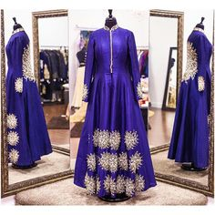 How beautiful is this sapphire raw silk gown!? This gown is detailed with resham embroidary. This sapphire blue colour gives it such a royal look! Love it!  All of our pieces are customizable to meet your requirements and personal style! Email us at sales@wellgroomed.ca Out of the country? We've got you covered! We offer phone and skype consultations as well! Drop by one of our retail locations:  6028 Stevenson Blvd, Fremont California  Unit 321-8218 128 St. Surrey, BC  #wellgroomedinc…