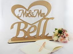Mr Mrs Sign Decorated In Gold And Silver Gl Diamonds Each