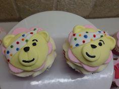 Pudsey bear Children In Need Cupcakes, Bear, Desserts, Food, Tailgate Desserts, Deserts, Eten, Bears, Postres