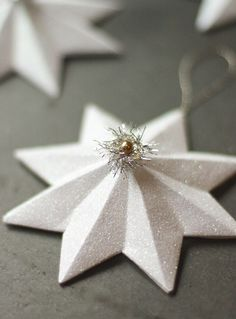 Glittered Paper Star Ornament
