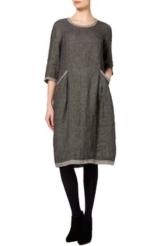 Sahara Geometric Linen Bubble Dress