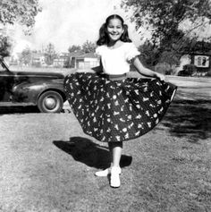 9 year old Cher showing off her circle skirt, 1955 : OldSchoolCool