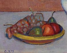 Alexandre Blanchet - Nature morte aux fruits, 1909 - Huile sur toile, 24 x 33 cm.
