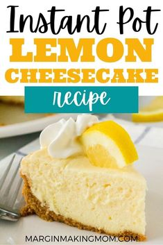 My family loved this Instant Pot lemon cheesecake! I had no idea it was so easy to make a light and refreshing dessert in my pressure cooker--who knew?! Lemon Cheesecake Recipes, Lemon Dessert Recipes, How To Make Cheesecake, Graham Cracker Crumbs, Graham Crackers, Pressure Cooker Desserts, Blueberry Compote, Refreshing Desserts, Strawberry Sauce