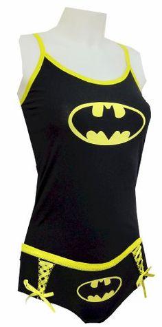 I want this!!  http://myexotictoy.com: Batman Bikinis & ETC: DC Comics Batgirl Cami & Panty Set for women  Buy: $25.90 - $35.00