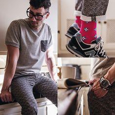 Forever 21 Shirt, Topman Trousers, New Balance Sneakers, Richer Poorer Socks, Forever 21 Bracelet, Anthropologie Mug, Nautica Watch