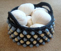 Honeycomb Pop Basket - a free crochet pattern from Make My Day Creative
