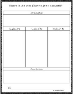 Free Opinion Writing Graphic Organizer and Draw and Write Paper