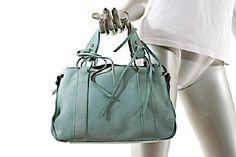 2339200a55be Small Handbag W Silver Hardware Aqua Suede Satchel. Emporio ArmaniGiorgio  ...