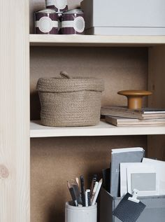 A cosy, grey home office for a freelance creative – my makeover reveal - OFFICE FURNITURE Gray Home Offices, Home Office Decor, Used Office Furniture, Unique Furniture, Living Room Shelves, Office Makeover, Guest Bedrooms, Beautiful Homes, Cosy