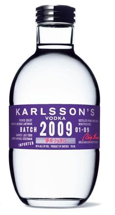 Karlsson's Vodka Batch 2009 - vintage vodka #vodka #topvodka