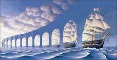 Escher ships   carabela by jenniferguerlop.deviantart.com on @deviantART