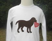 baby toddler boy -perfect for VALENTINE'S and beyond - dog with valentine applique tee
