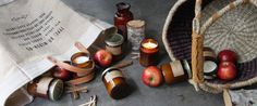 Candle Of The Week: Apple Picking – The Candle Library Fresh Green, The Fresh, Cinnamon Spice, Candles, Apple, Apple Fruit, Candy, Candle Sticks, Apples