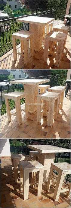 For what purpose you will be using this wonderful recycled wood pallet creation? Think about it! It would definitely appear out to be attractive and a catchier creative piece of creation in your house area. It do have table and stools pairing into it where you can splendidly set the seating pieces.