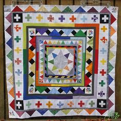 Rockin' Robin Medallion Quilt by Juline Round Robin, Rockin Robin, Art Blog, Quilting Designs, Quilt Blocks, Quilts, Blanket, Canvas, Artist