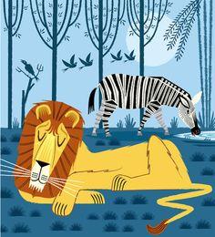 Whilst The Lion Sleeps Art Print | Oliver Lake