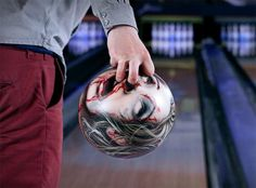 Zombie head bowling balls. These are hilarious.
