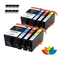 8x Compatible hp 934xl 935xl Ink Cartridges for HP Officejet 6815 e-All-in-One Printer